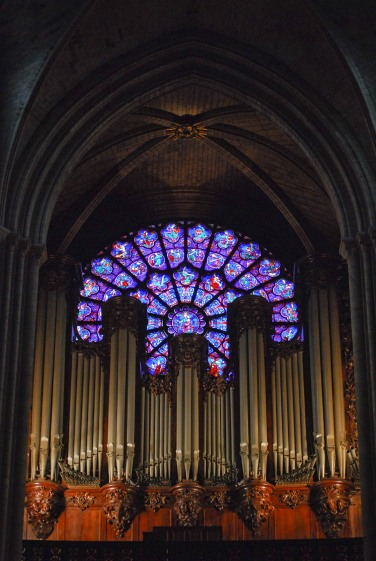 Pipe organ at Notre Dame de Paris
