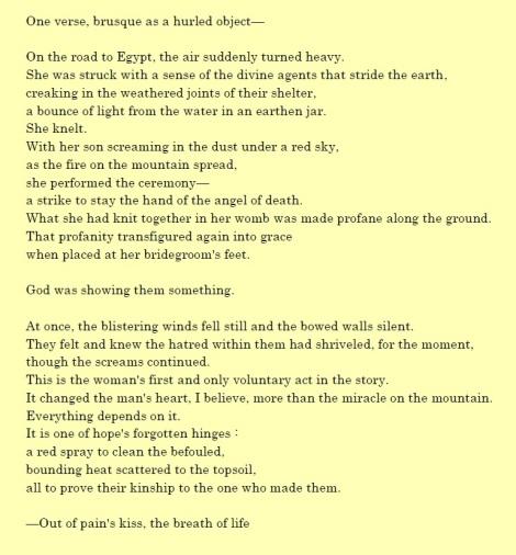 Tzipporah and the Sharp Stone